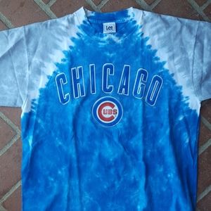 Vintage Chicago cubs tie dye shirt